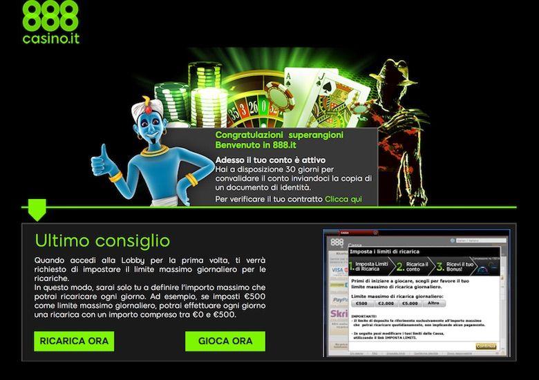 88 euro senza deposito 888 casino