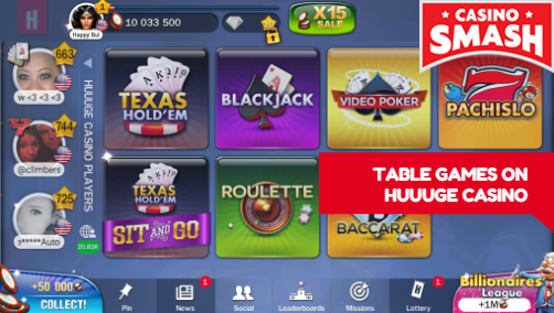 Play Slots & Table Games at Huuuge Casino