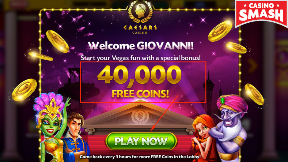 Welcome Bonus of 40,000 Free Coins!