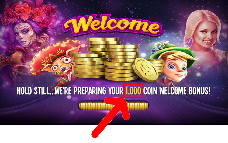 House of Fun's Welcome Bonus of 1,000 Free Coins