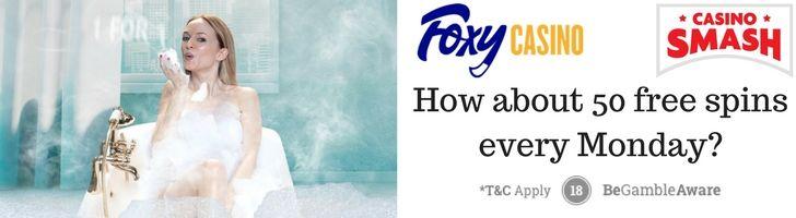Free Spins bonus at Foxy Casino