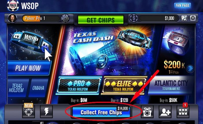 Collect Free WSOP Chips