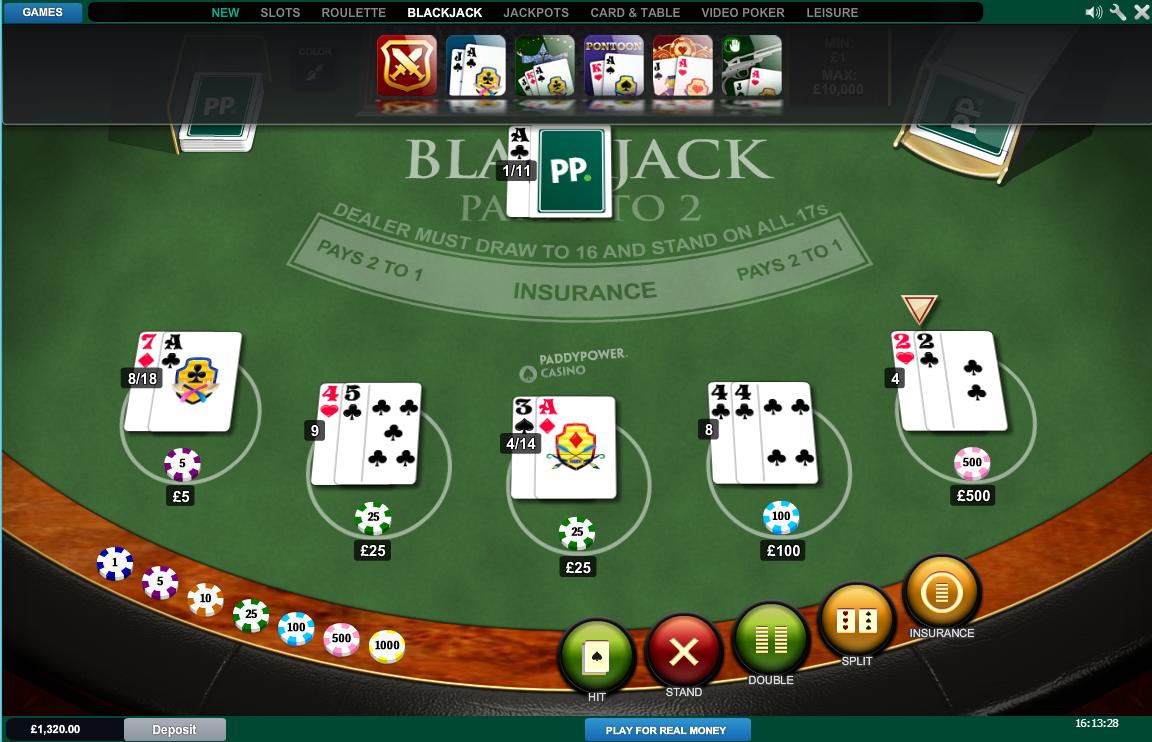 Free casino bonus paddy power