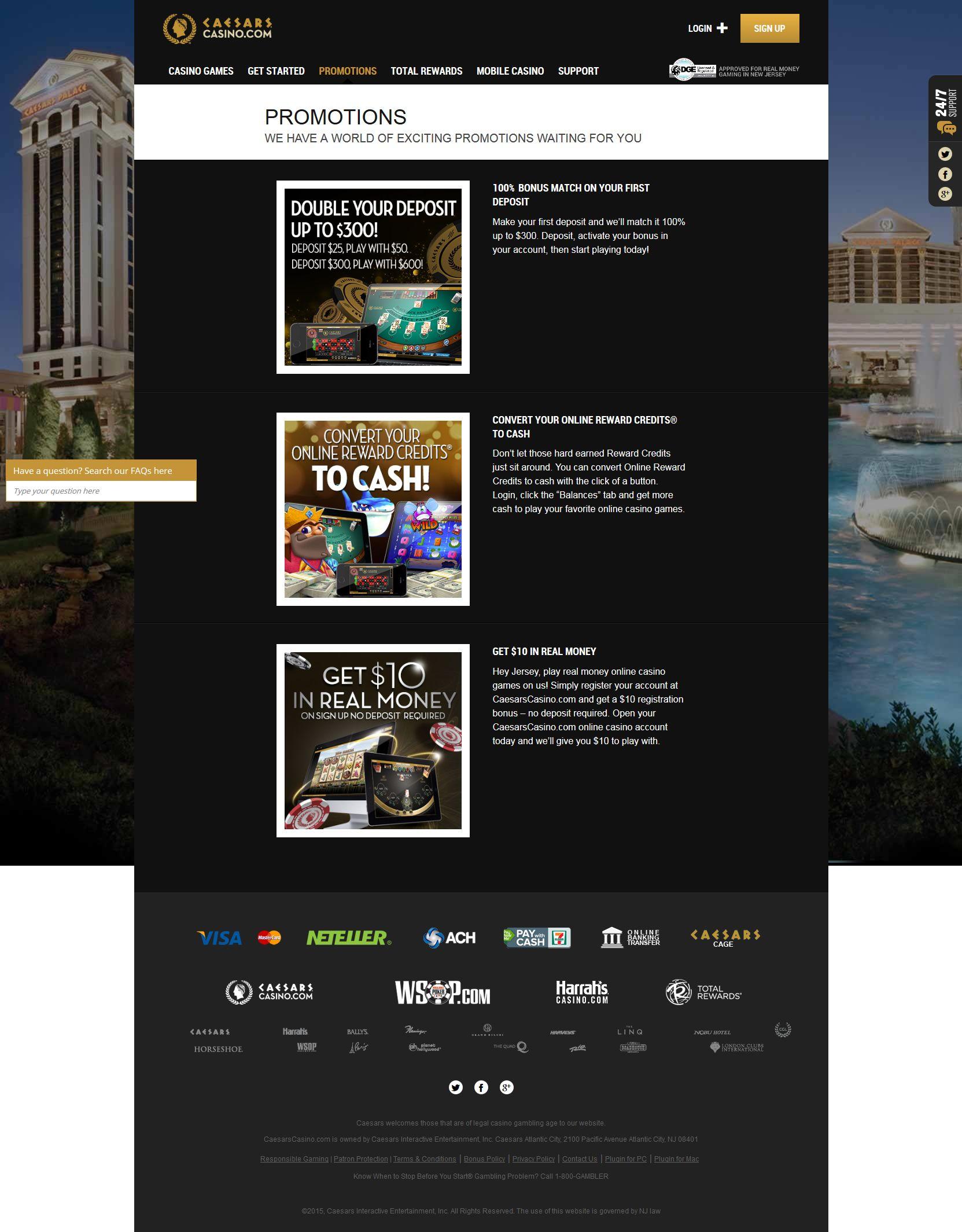 Caesar casino.com binion horseshoe casino