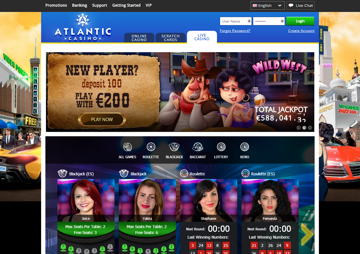 atlantic casino bonus codes