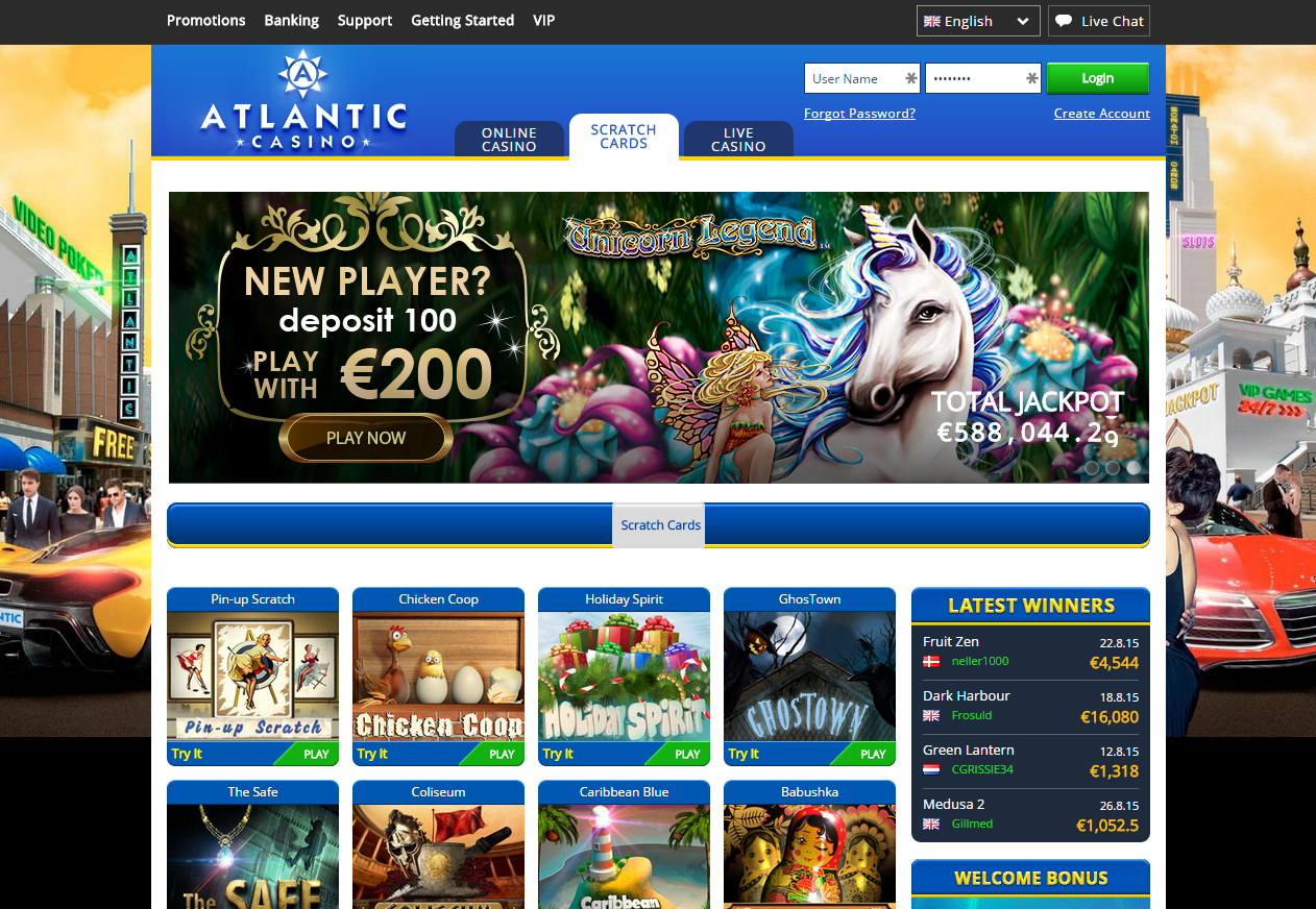 atlantic casino club bonus code