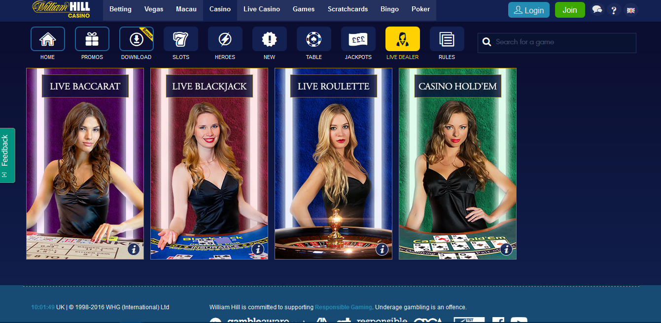 william hill casino club paypal