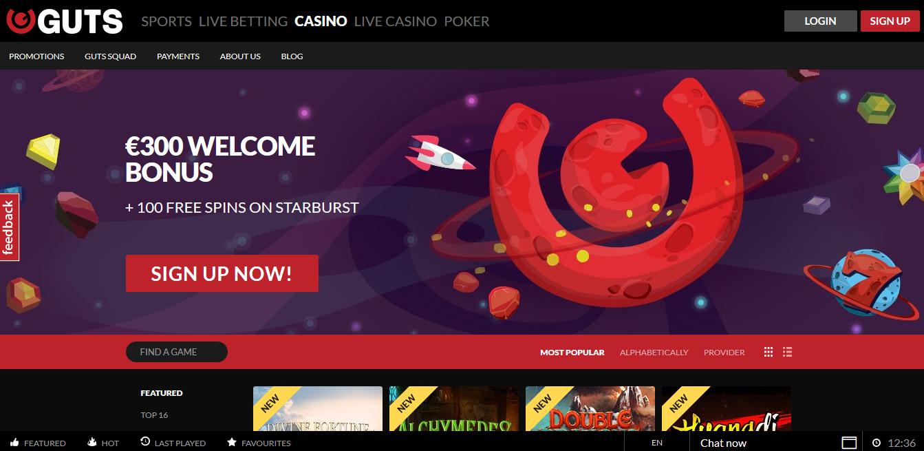 no deposit bonus codes guts casino