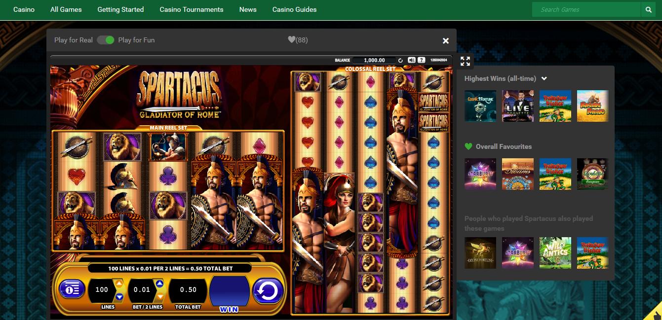 free casino games unibet