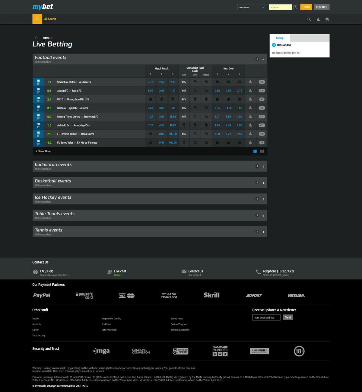 mybet casino download