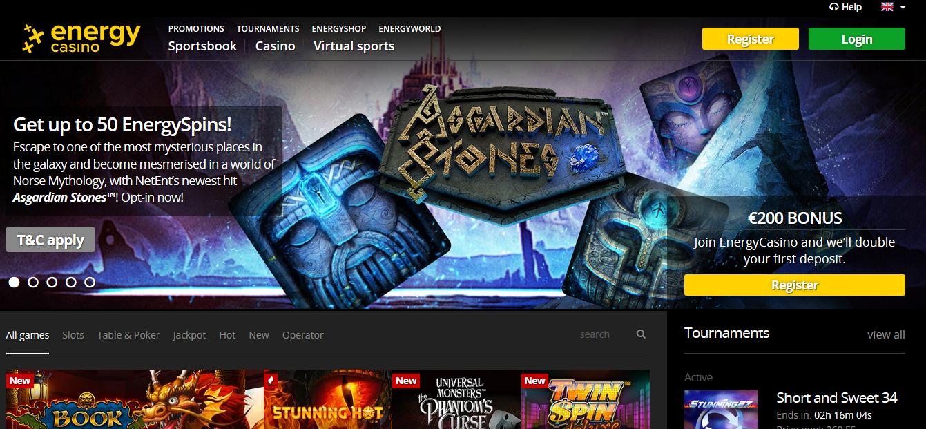 Online energy casino bonus codes