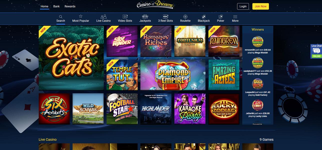 Casino Of Dreams Reviews