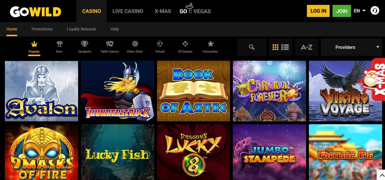 Go Wild Casino No Deposit