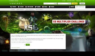 X5 multiplier challenge.