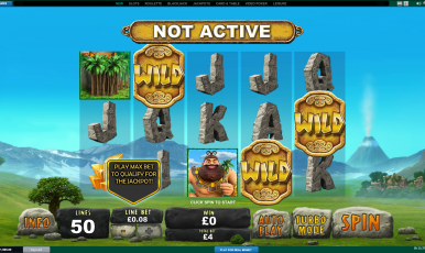 Play max bet to qualify for the jackpot