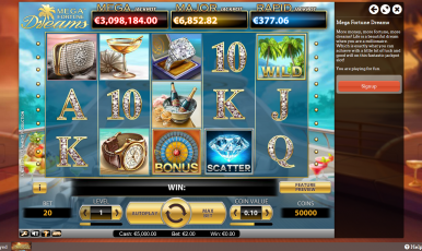 Fortune Dreams slot game on Leo Vegas room.