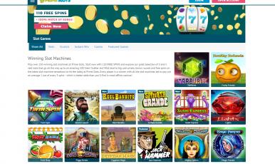 Play winning slot machines on PrimeSlots.com
