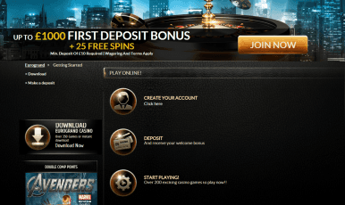 Receive your welcome bonus and start playing!