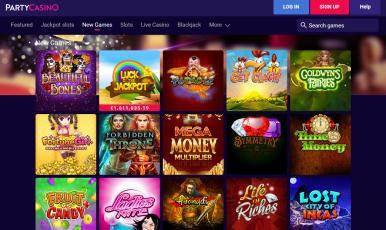 party casino no deposit bonus