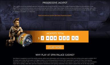 Spin Palace Casino Bonus Code 2018