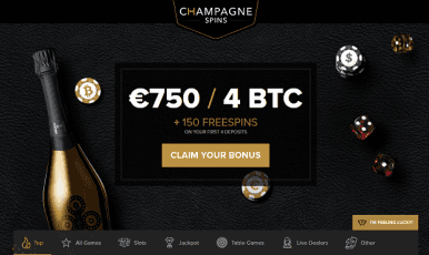 Champagne Spins Casino Bonus
