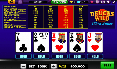 Win Fun Casino Deuces Wild Video Poker