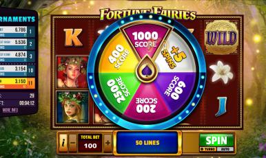 Win Fun Casino Slot Fortune Fairies Bonus Wheel