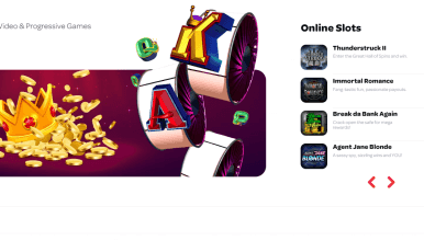 Spin Casino Homepage