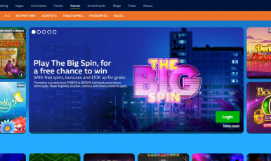 William Hill Casino Game Section
