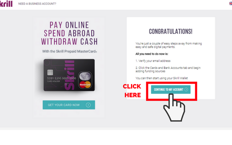 How to Set Up a Skrill Account: Step 7