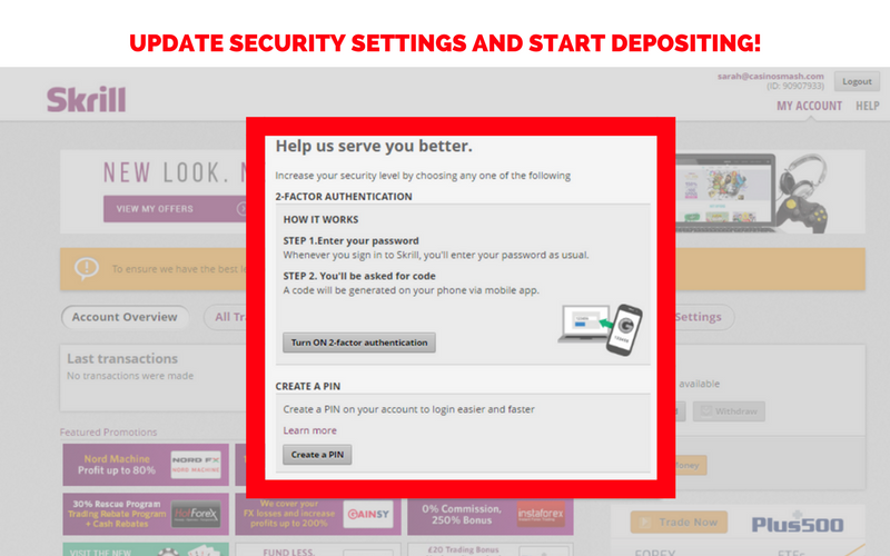 How to Set Up a Skrill Account: Step 8