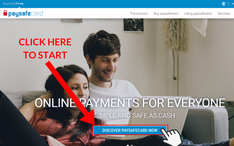 How to Set Up a Paysafecard Account: Step 1