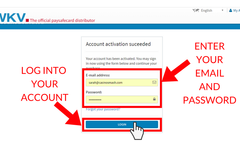 How to Set Up a Paysafecard Account: Step 8