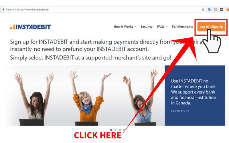 Online Casinos that Accept Instadebit Step 1