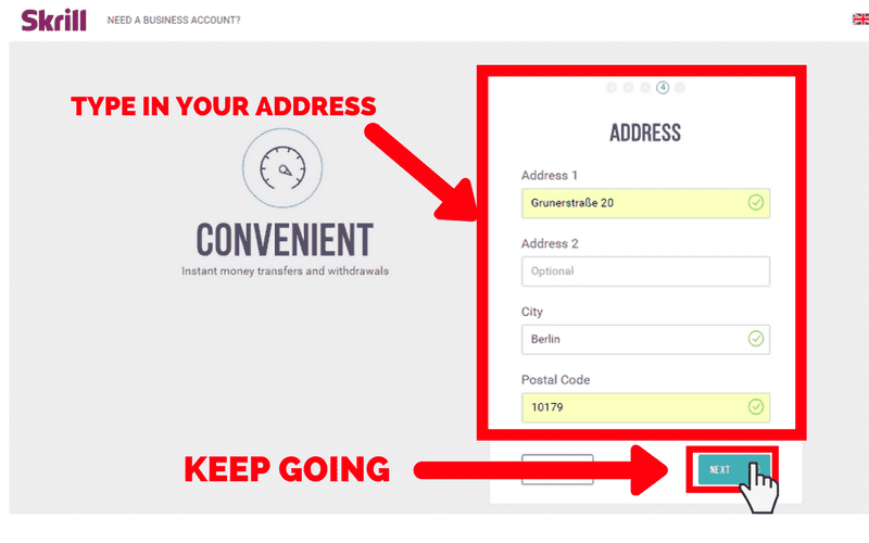 How to Set Up a Skrill Account: Step 5