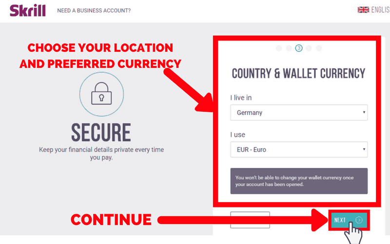 How to Set Up a Skrill Account: Step 4