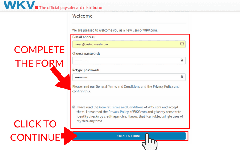 How to Set Up a Paysafecard Account: Step 6