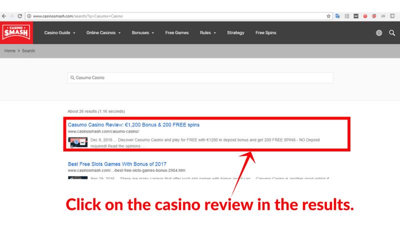 Online Casinos that Accept VISA: Method 1