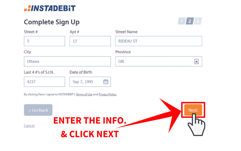 Online Casinos that Accept Instadebit Step 4