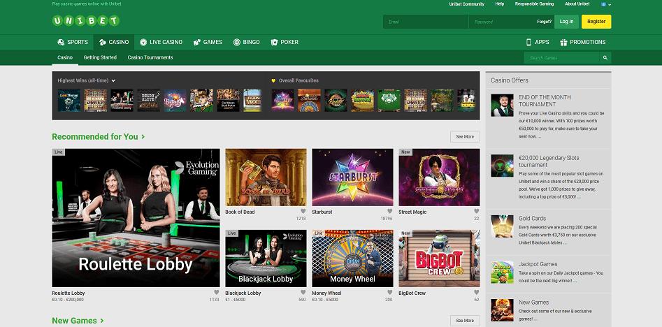 Unibet Casino - Nuovo Casino in Italia